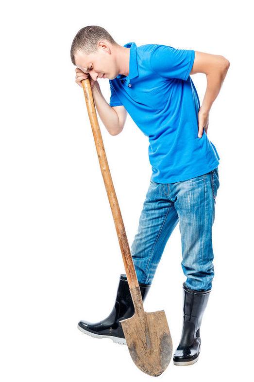 gardening, back pain